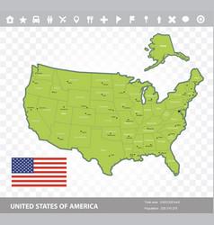 Usa flag and map vector