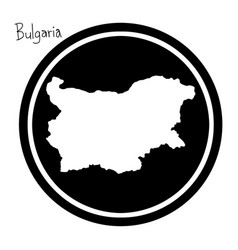 white map of bulgaria on black vector image