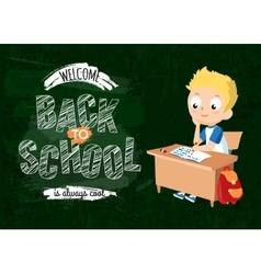Back to school background with pupil vector
