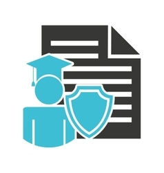 Education insurance concept icon vector