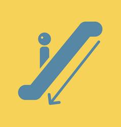 Escalator down vector