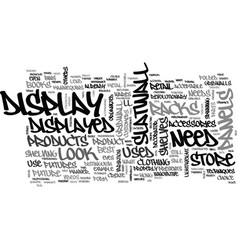 A look at store fixture parts text word cloud vector