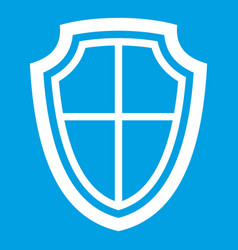 shield icon white vector image