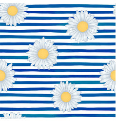 Beautiful seamless pattern with blue watercolor vector