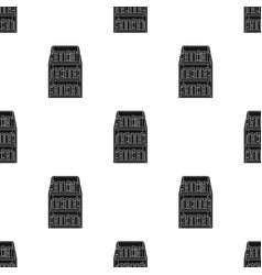 Bookcase icon in black style isolated on white vector