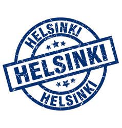 Helsinki blue round grunge stamp vector