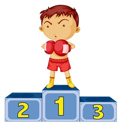A boxing champion vector image
