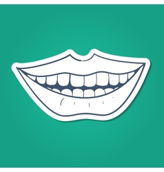 Healthy teeth smile vector