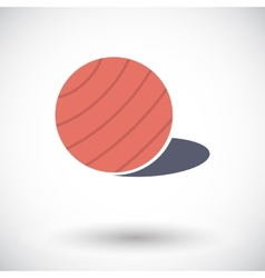 Fittball single icon vector