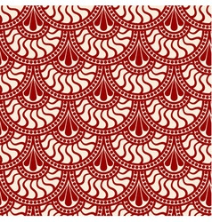 Red scales lace seamless pattern vector