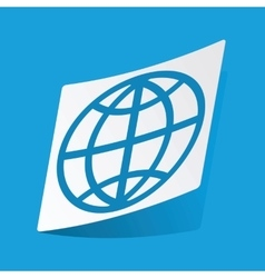 Globe sticker vector