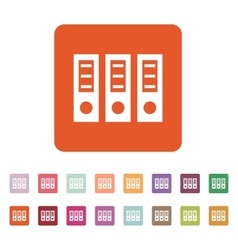 The archive folder icon document and data vector