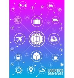 Logistics services around the world design concept vector