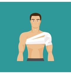 Bandaged shoulder vector