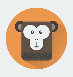 Chimp baby animal icon vector