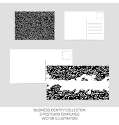 Business identity collection black and white vector