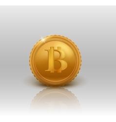 Golden Bitcoin vector image