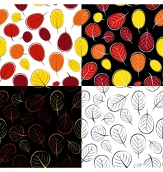 Hand Drawn Autumn Leaves Seamless Pattern vector image