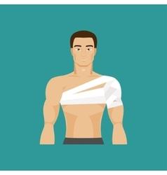 Bandaged shoulder vector