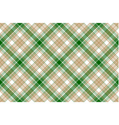 Beige green white plaid seamless background vector
