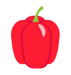 Bell pepper flat icon vegetable and sweet vector