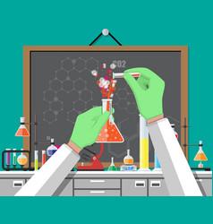 Biology science education equipment vector