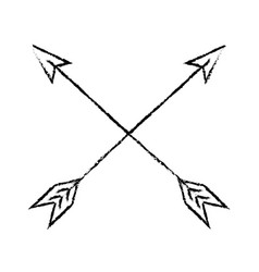 Bow arrows crossed vector