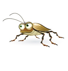 cartoon beetle vector image