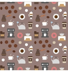 Coffee flat icons seamless pattern 2 vector