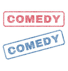 Comedy textile stamps vector