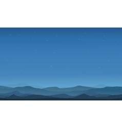 Desert landscape silhouettes vector