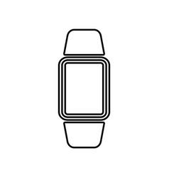 digital hand clock black color icon vector image