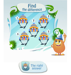 find the difference penguin2 vector image vector image