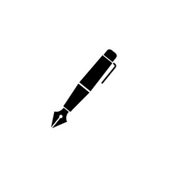 fountain pen solid icon education and school vector image