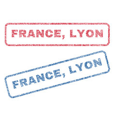 France lyon textile stamps vector