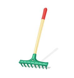 Garden rake agriculture tool vector
