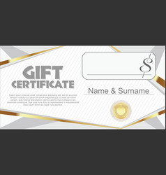 gift certificate retro design template vector image vector image