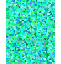 Green blue triangle mosaic background vector