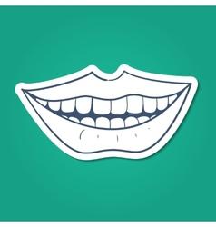 Healthy teeth smile vector