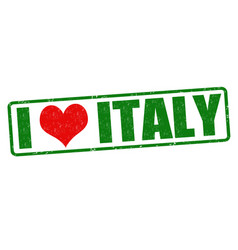 i love italy stamp vector image vector image