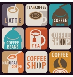 Icon for hot drinks vector