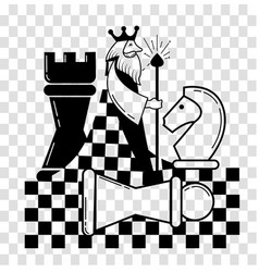 icon of the chess game chess vector image vector image