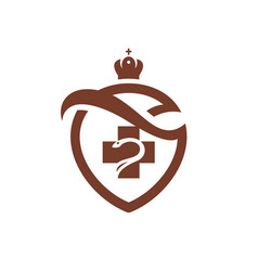 Medicine coat of arms vector