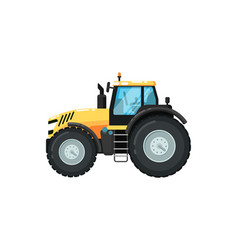 Modern agriculture tractor vector