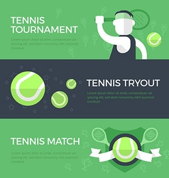 Tennis Banners vector image