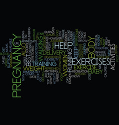 The best postpartum exercise text background word vector