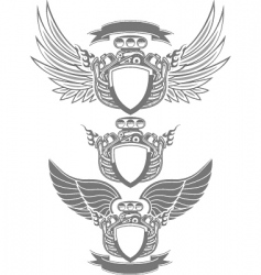 turbo engine emblem vector image vector image