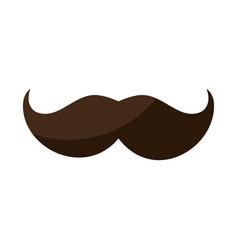 Vintage gentleman mustache vector