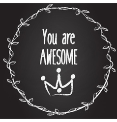 You are awesome background with hand drawn vector image vector image