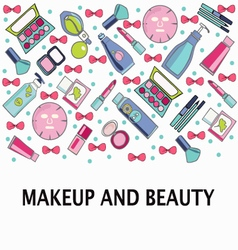 Make-up beauty and healthy cosmetic product vector